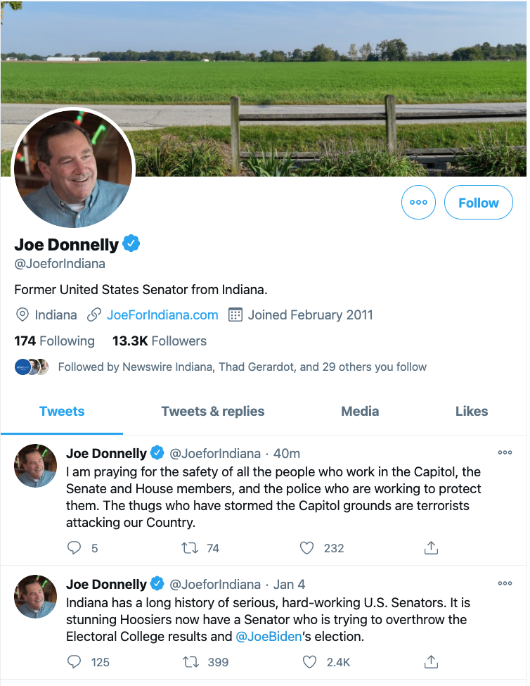 Joe Donnelly responds