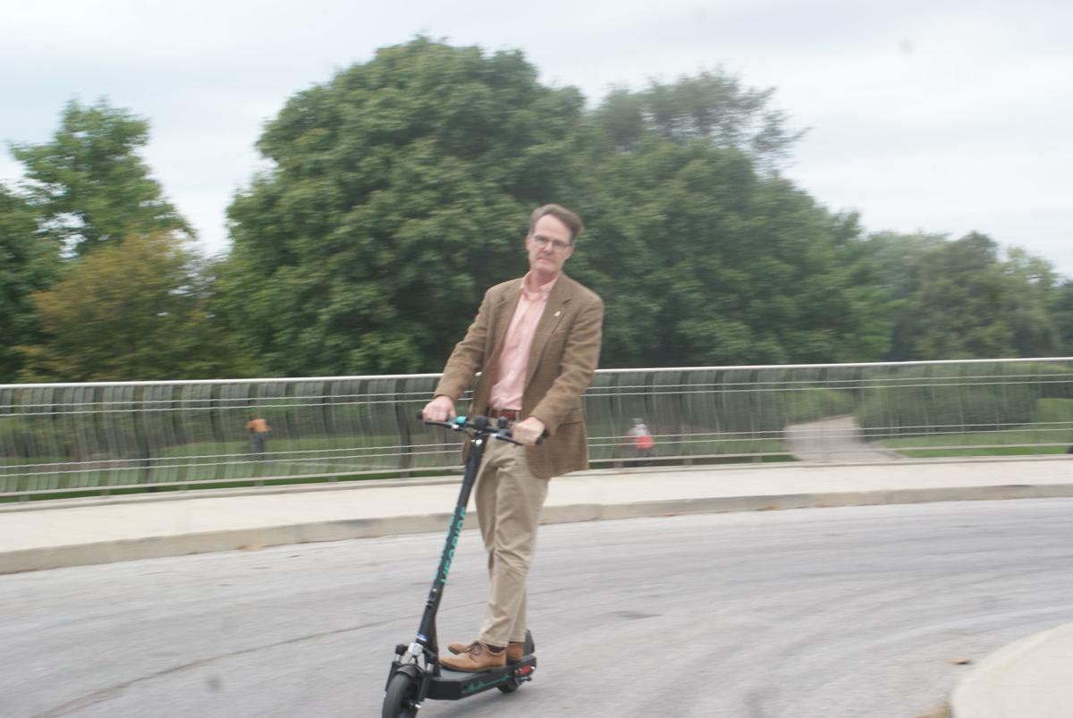 Taking a spin on a scooter