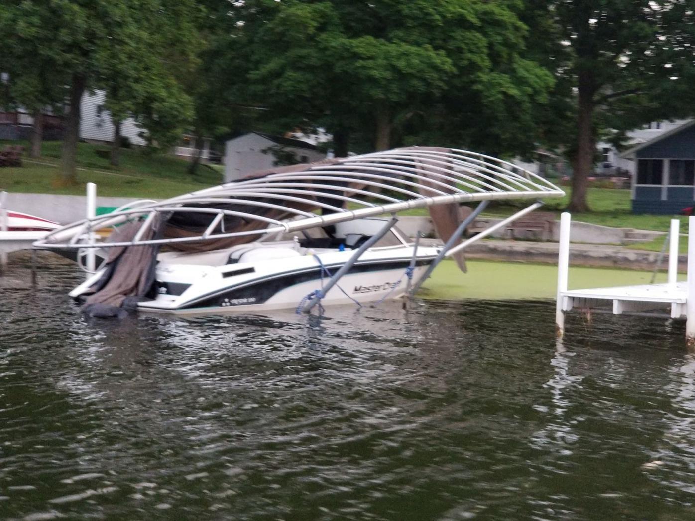 Webster Lake damage