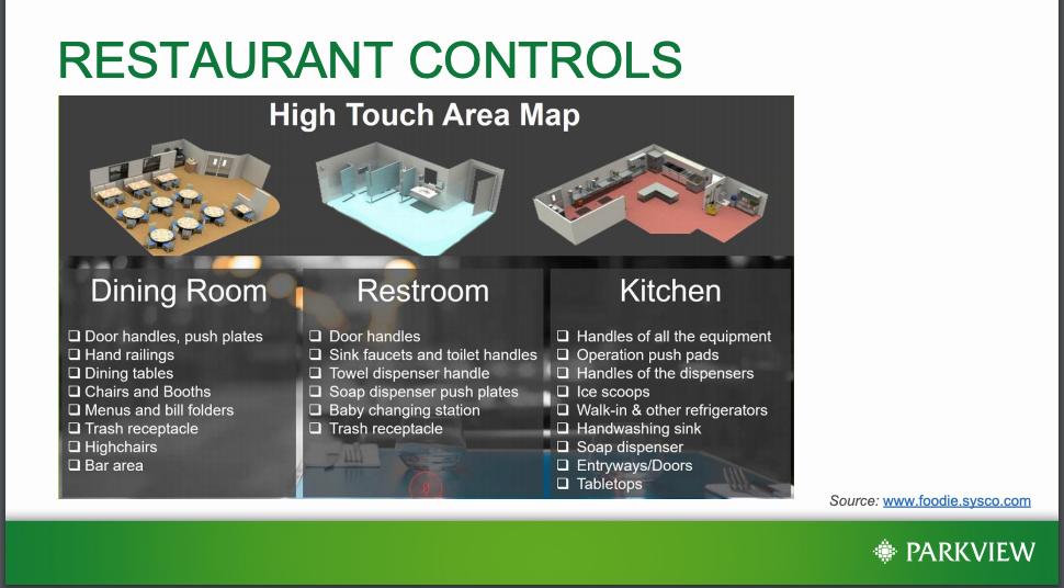 Restaurant controls