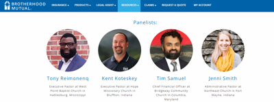 COVID-19 Moving Forward panelist for Brotherhood Mutual webinar