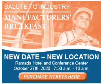 2020 Salute to Industry Manufacturers' Breakfast promo