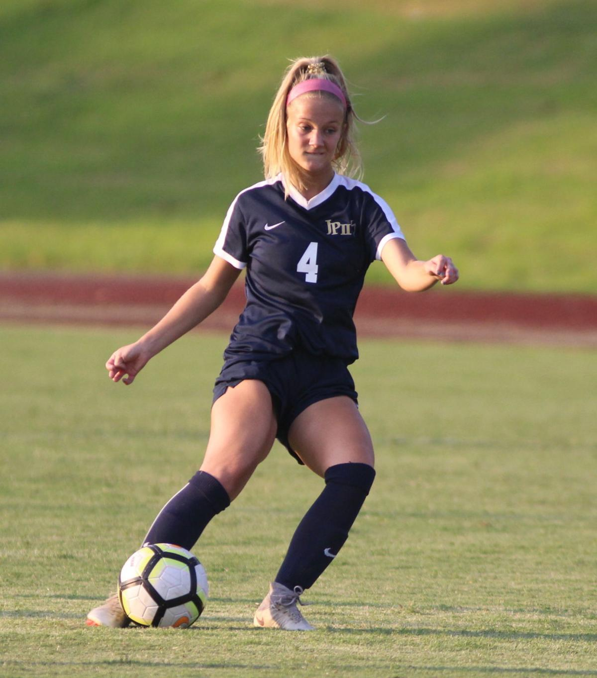 Ava Priest scored two goals for the Lady Knights Monday.