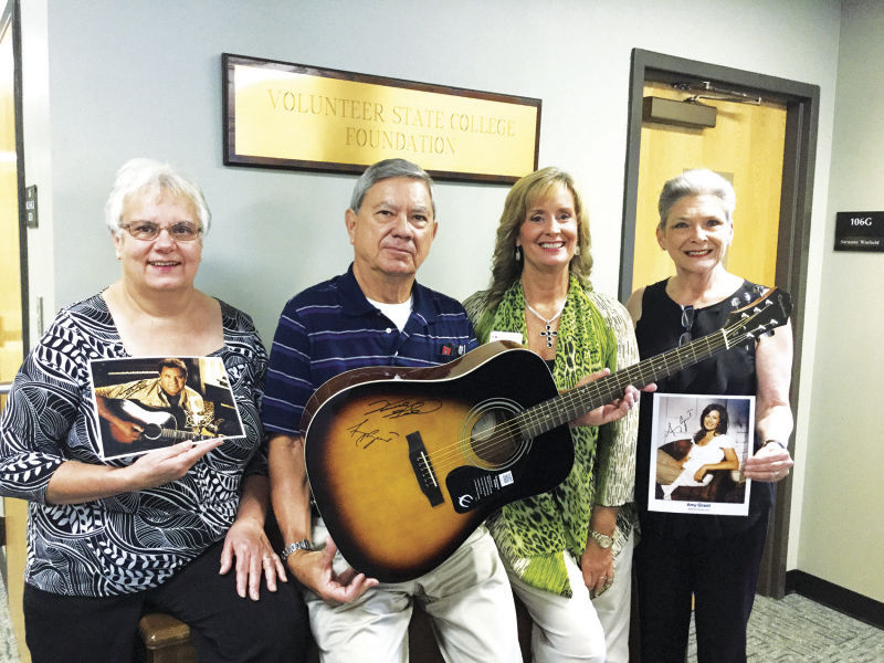 Vince Gill/Amy Grant signed guitar at