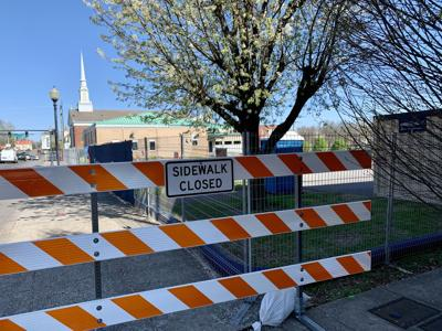 Sumner County Construction Sidewalk Closed