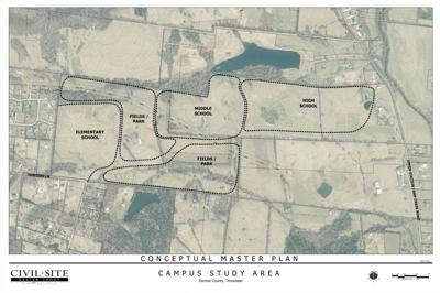 Land use map for new campus