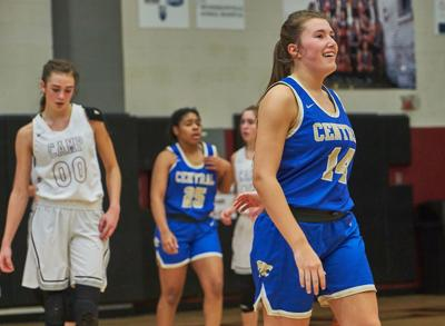 Wilson Central's Savannah Kirby celebrates at the end of Friday night's victory over Station Camp.