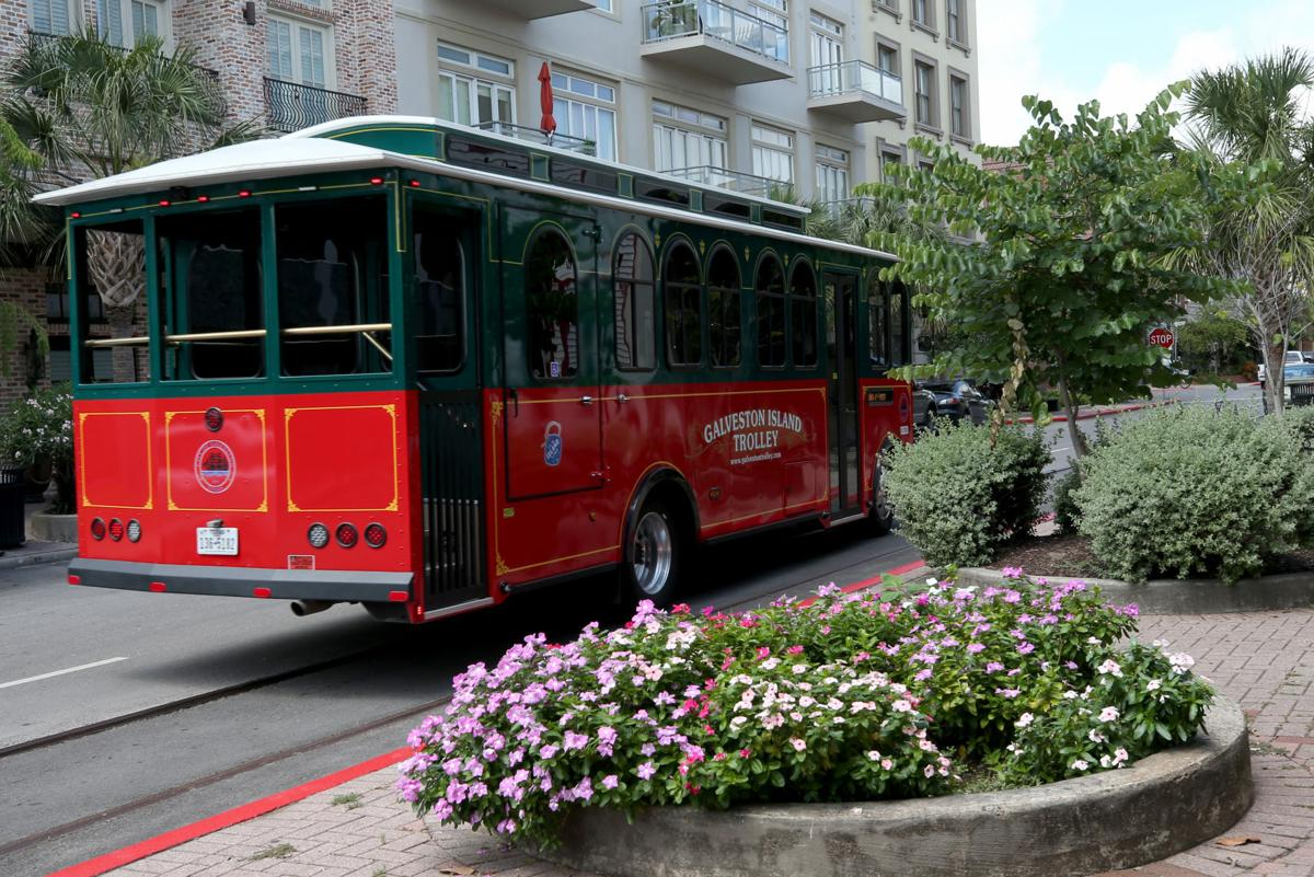 Trolley buses hit the streets in Galveston
