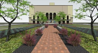 Rendering of city hall plaza