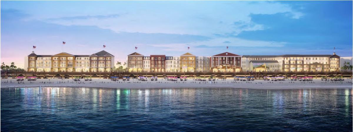 Porretto Beach construction concept