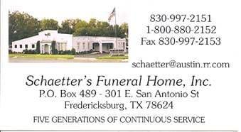 Schaetter's Funeral Home