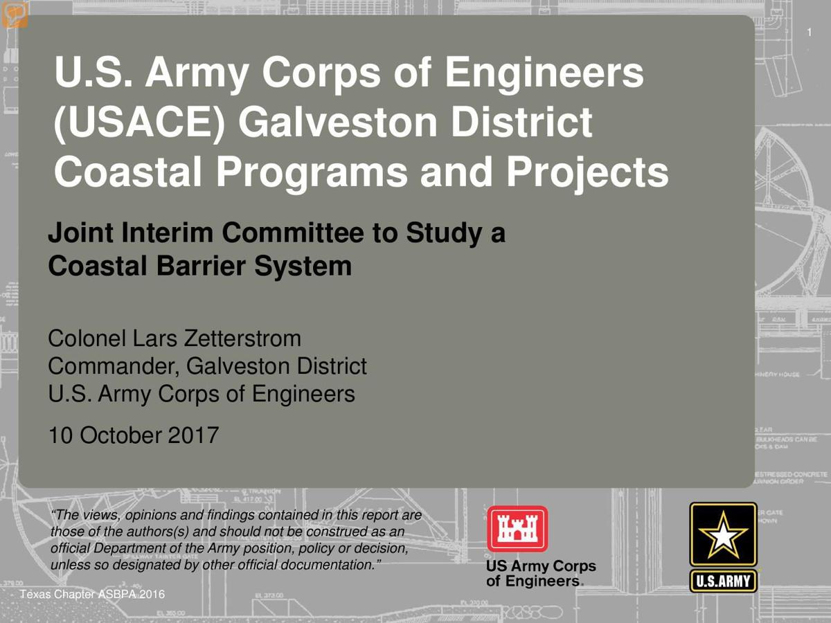 USACE Coastal Barrier Study update