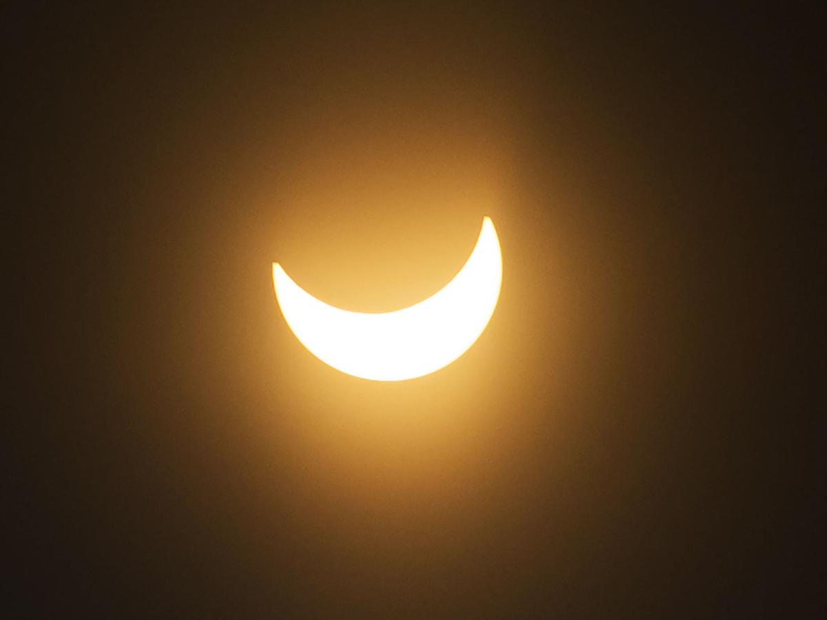 Students, residents bask in partial solar eclipse