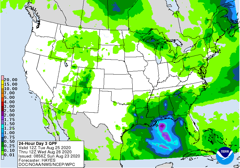 24 Hour Day 3 QPF