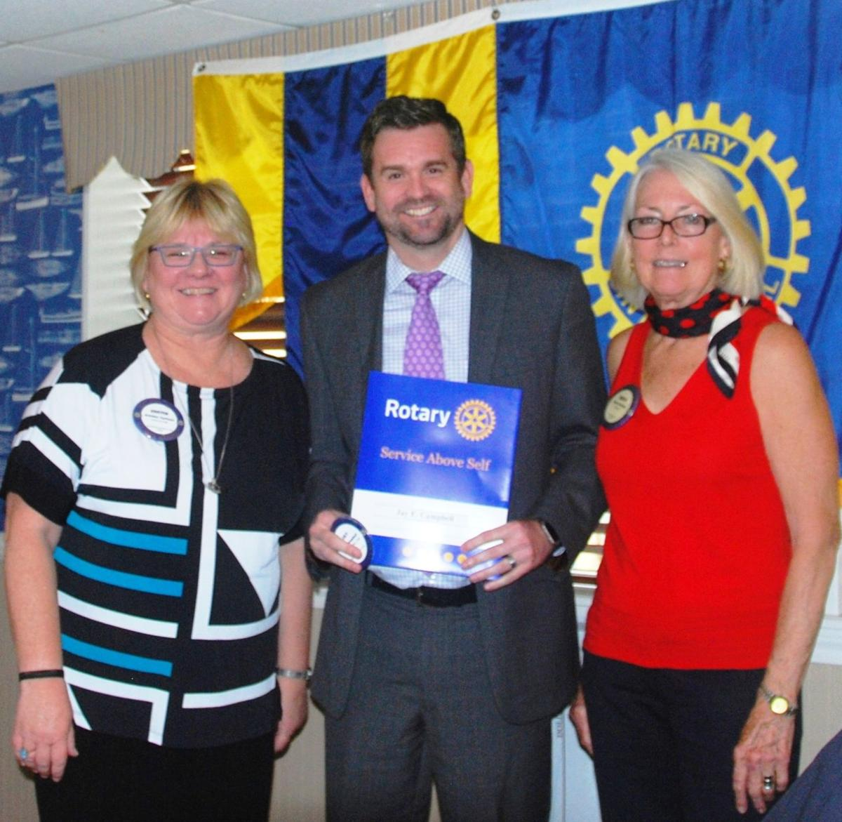 Jay Campbell joins rotary