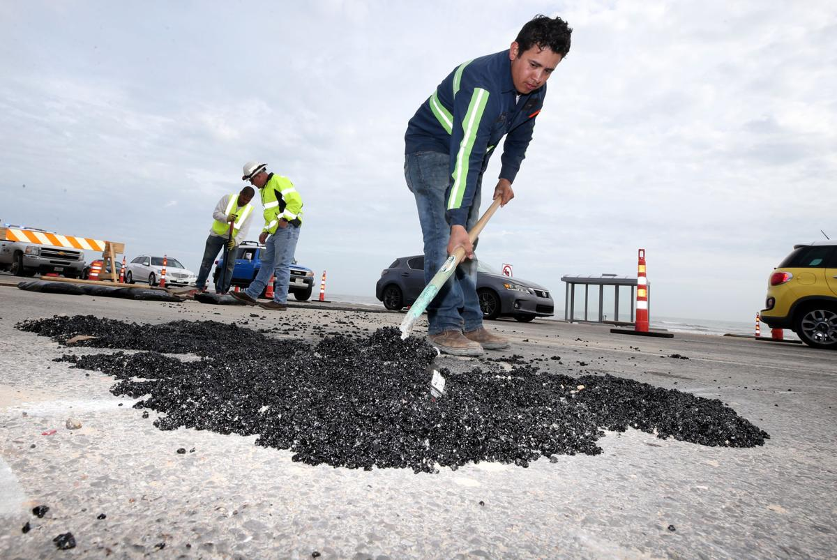 Seawall improvements still under construction