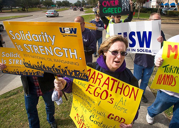 USW protest