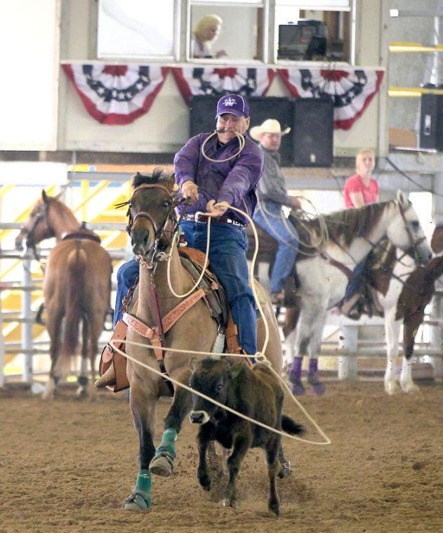 Rider ropes calf
