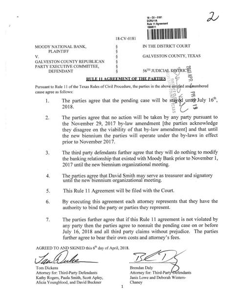 Rule 11 Agreement The Daily News