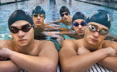 Clear Falls boys swimmers