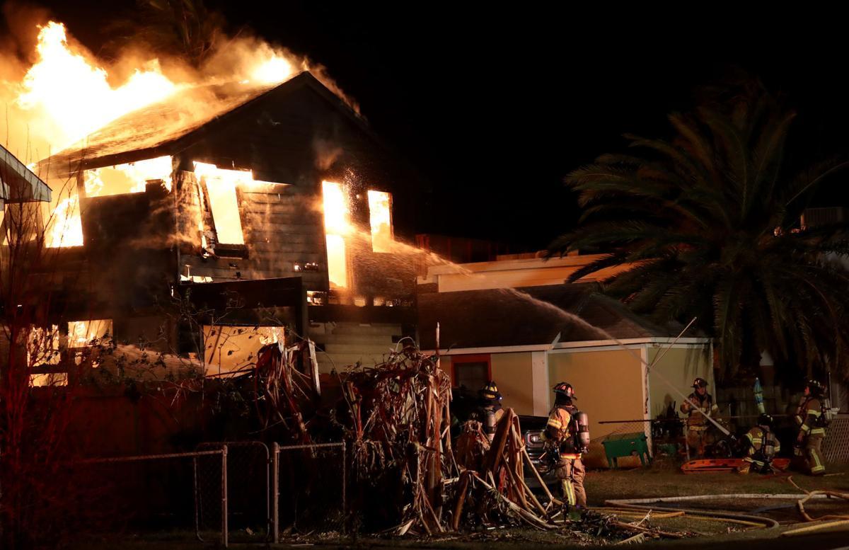 Fire destroys house