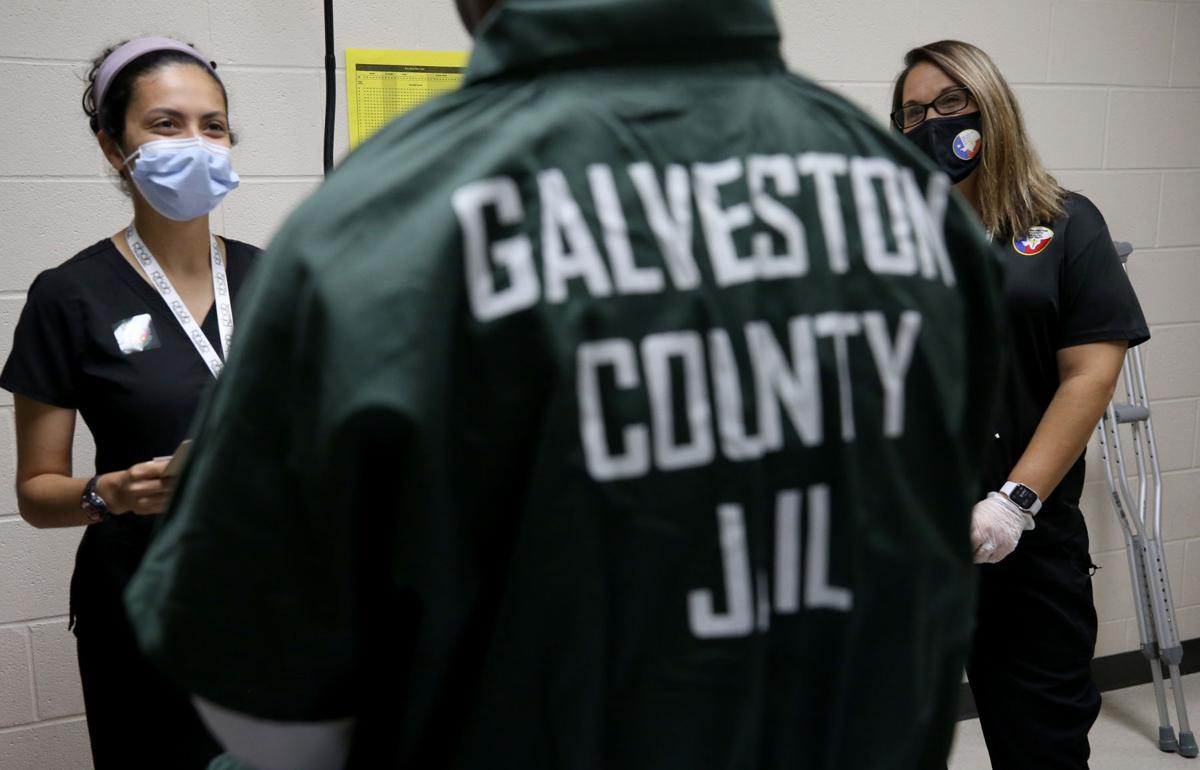 Vaccine outreach at the Galveston County Jail