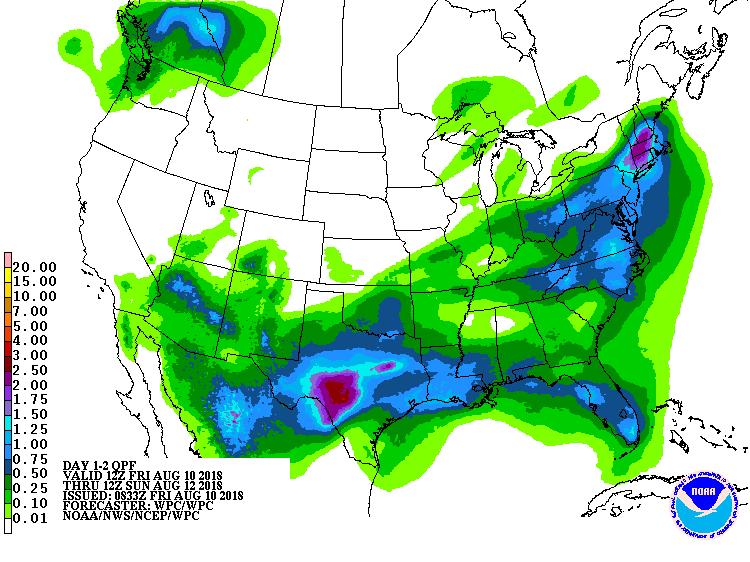 Day 1-2 precipitation outlook