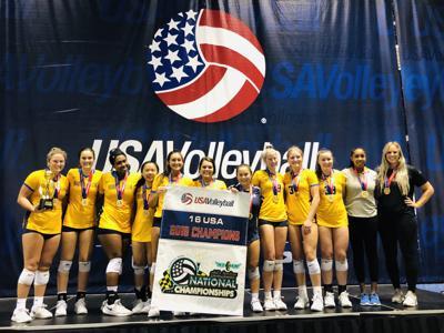 High Fives: Volleyball team