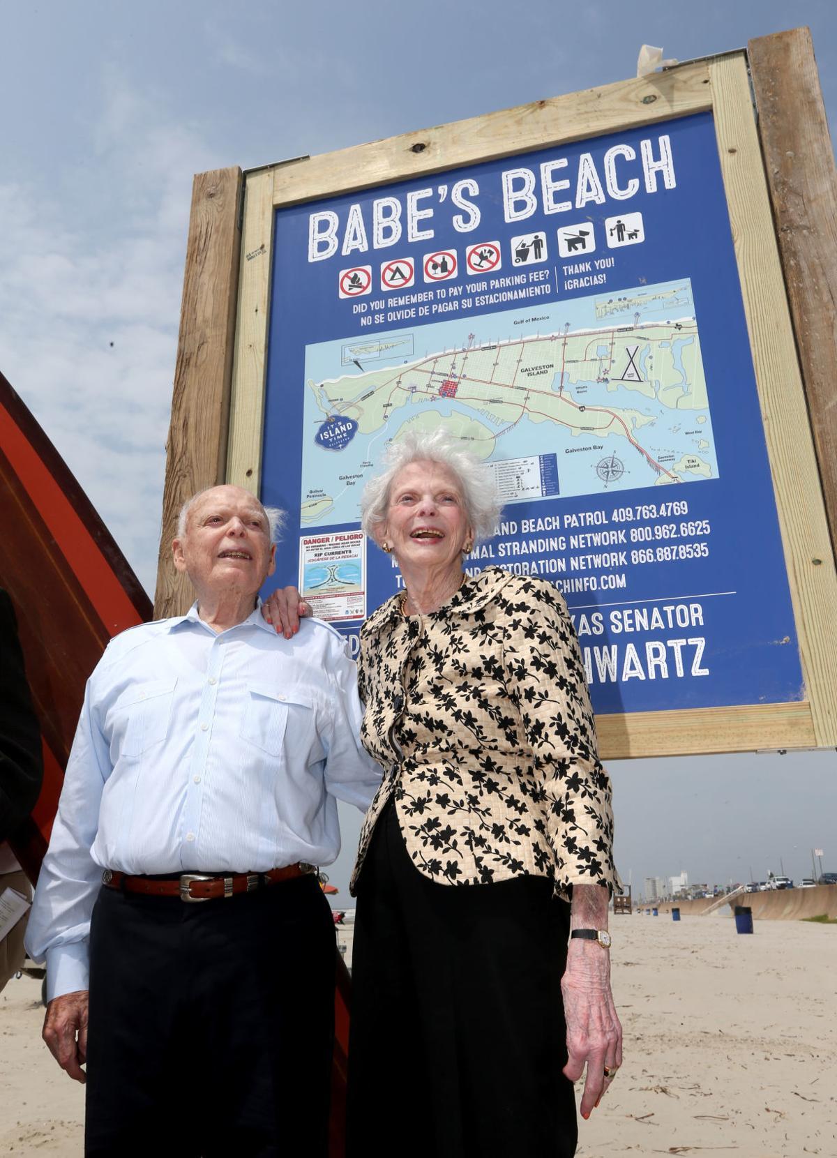 "Babe's Beach dedicated for former Texas Senator A.R. ""Babe"" Schwartz"