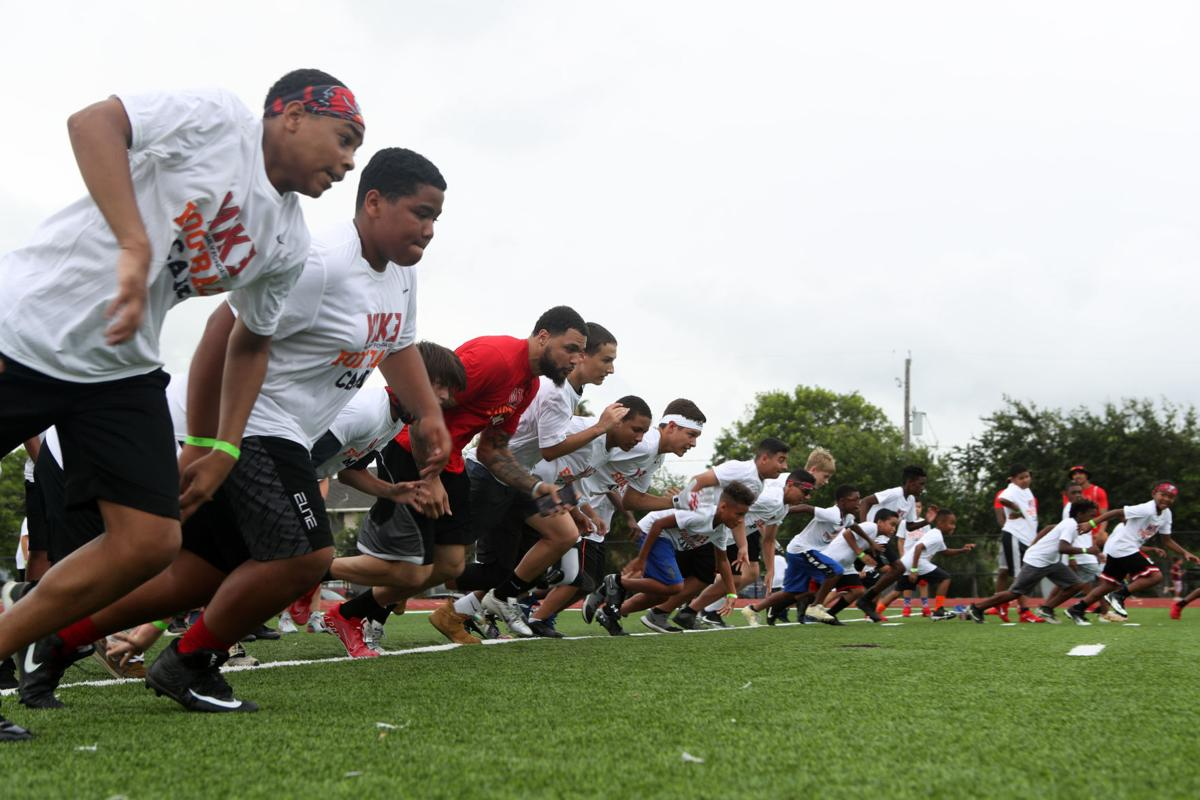Mike Evans football camp