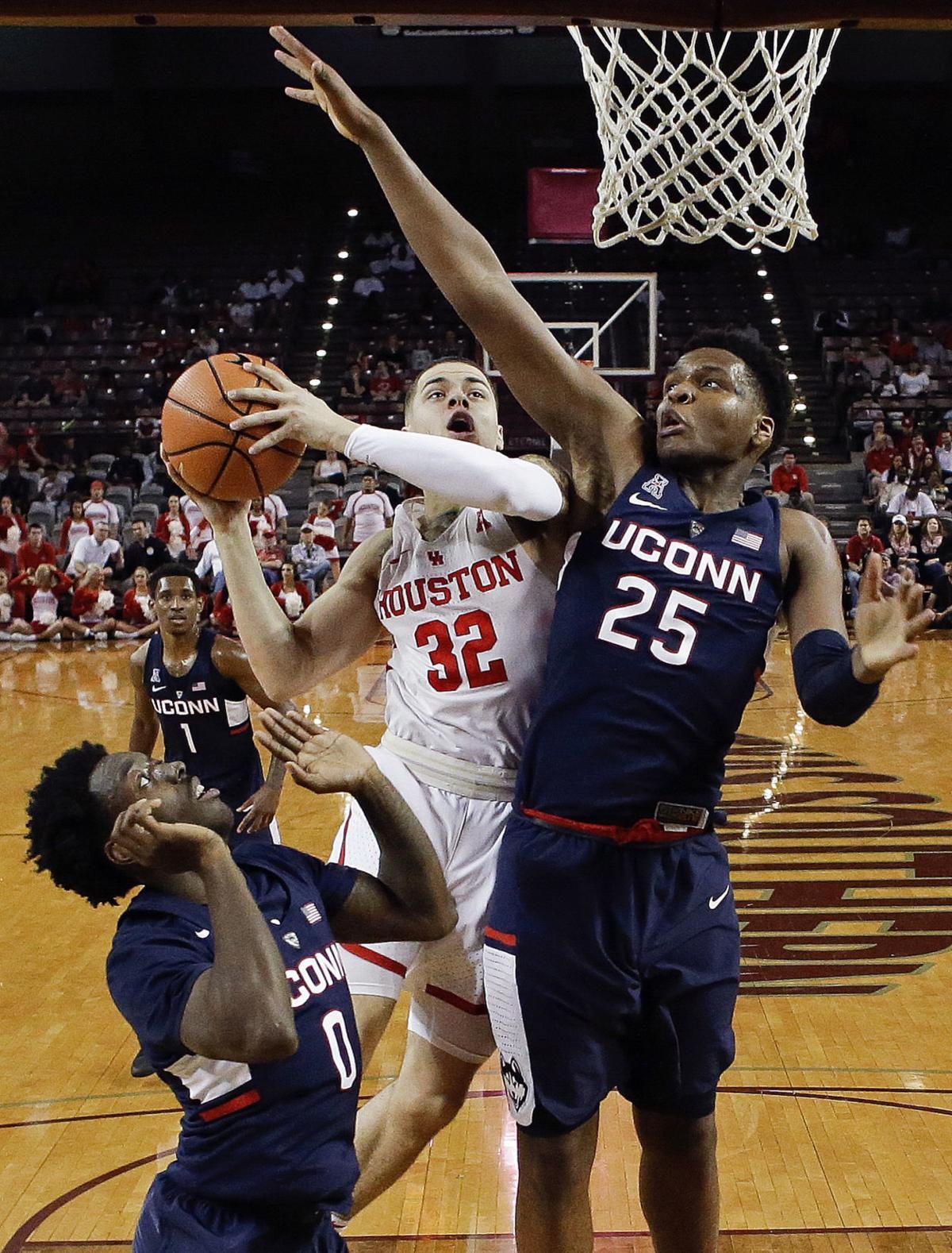 APTOPIX UConn Houston Basketball