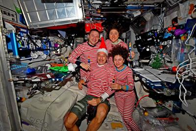 Astronauts send holiday greetings from ISS