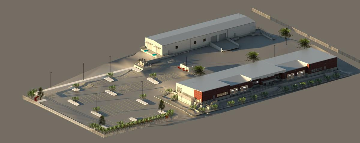 Rendering of public works administration and warehouse