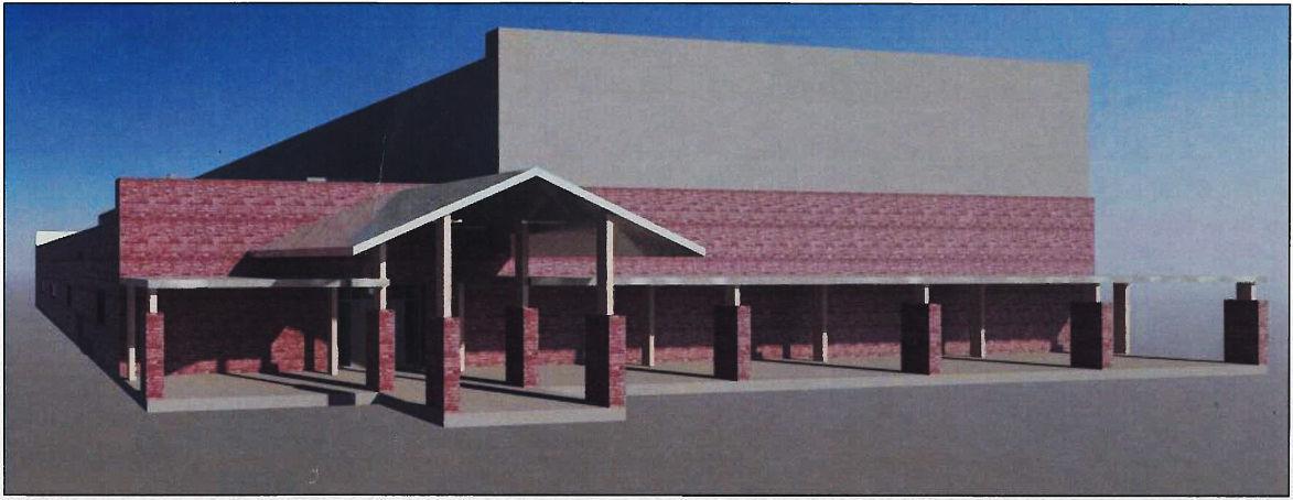 High Island emergency shelter rendering