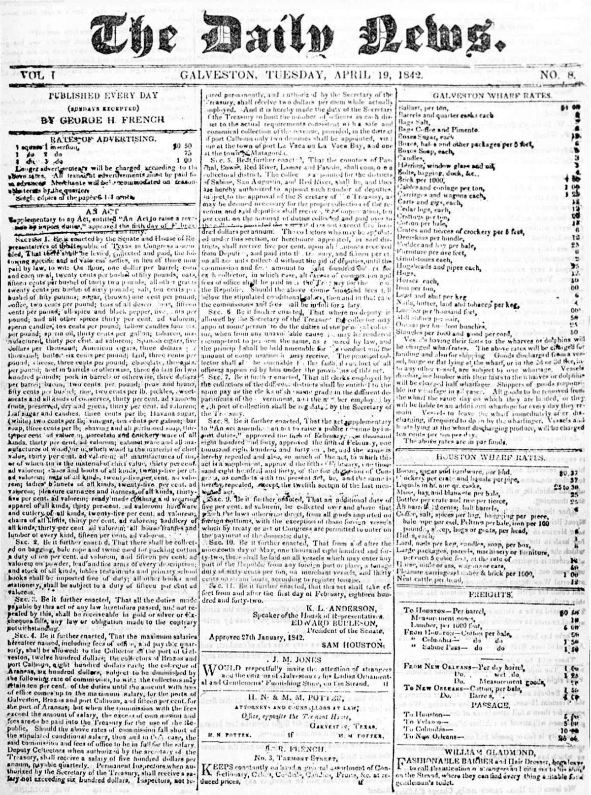 April 19, 1842