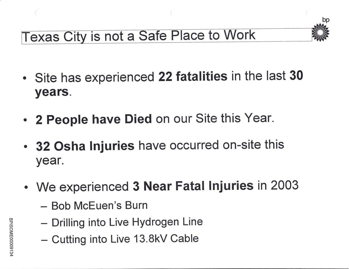 """""""Texas City is not a safe place to work"""""""