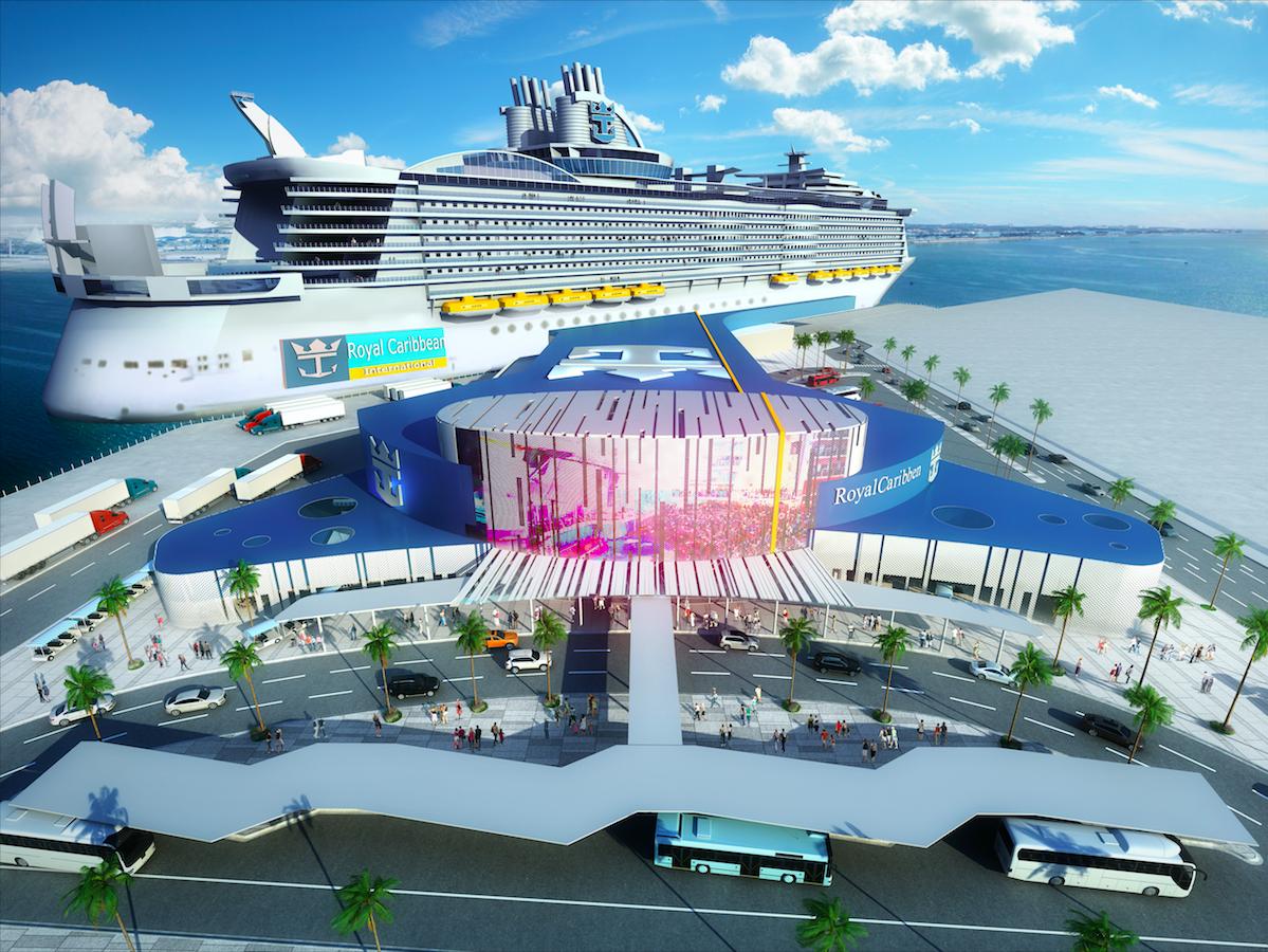 Royal Caribbean terminal rendering