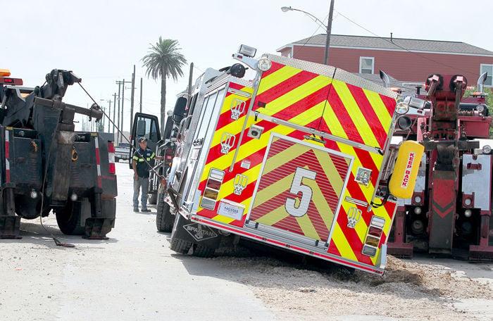 GFD Fire truck stuck