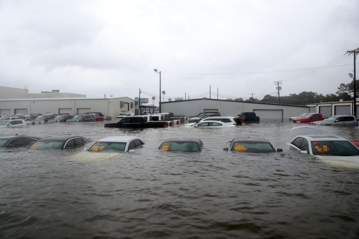 Dickinson Harvey flooding - Dealership flood