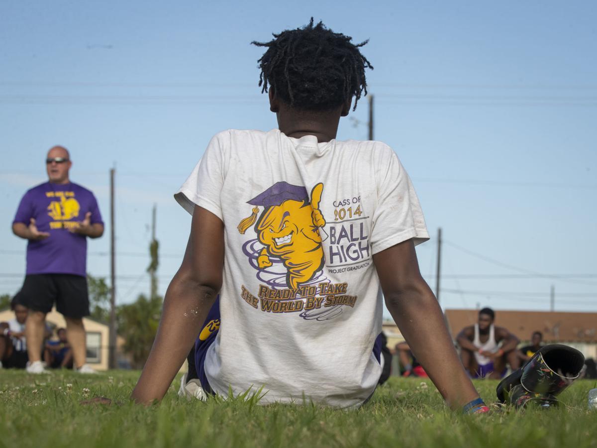 Ball High School Football Practice