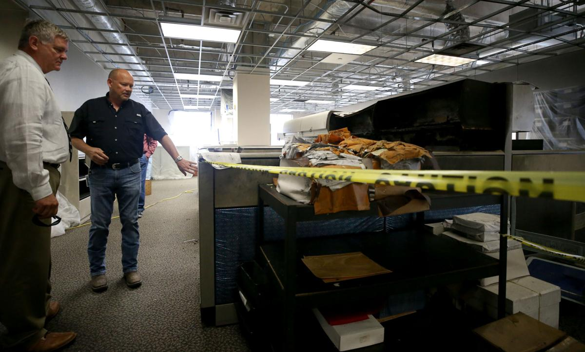 Cleanup underway at Justice Center after fire