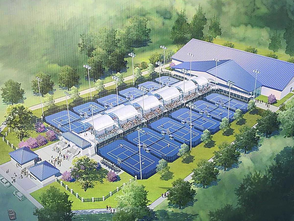 Tennis courts rendering