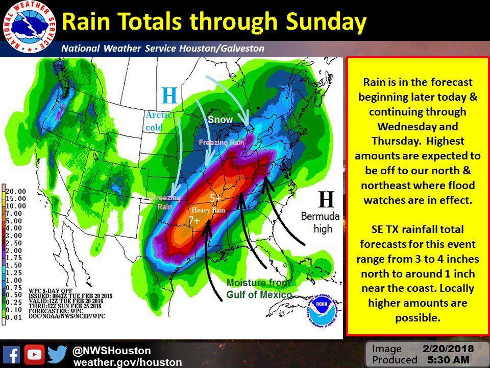 Rain Totals through Sunday