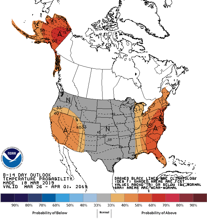 8-14 day temperature outlook