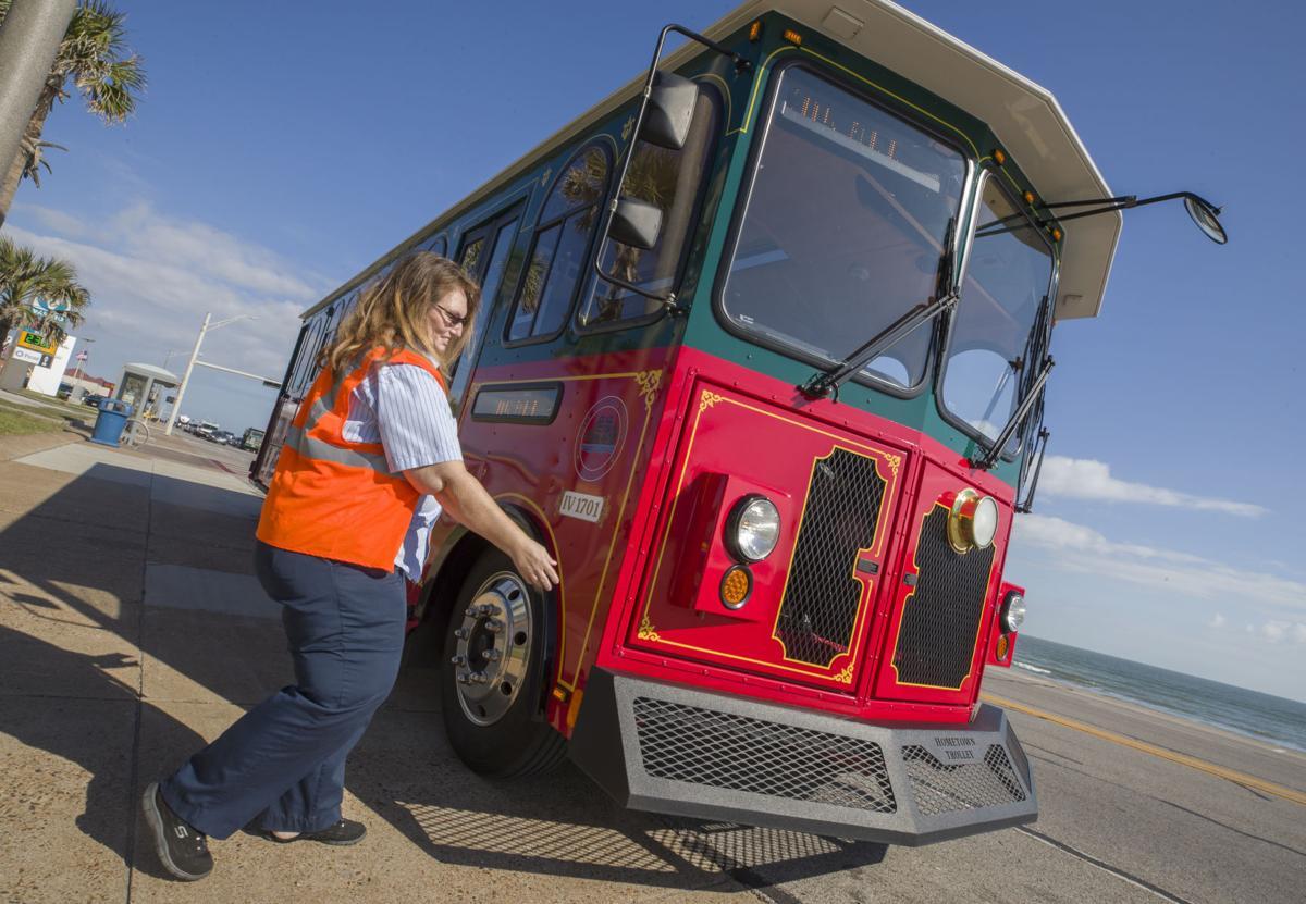 Galveston trolley bus