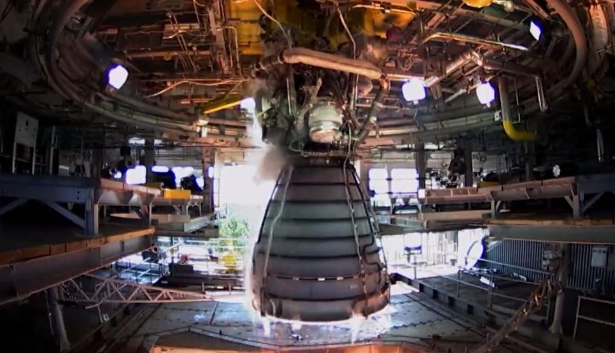 Engine test for new Space Launch System