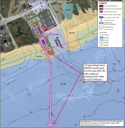 Rollover Pass pier proposal