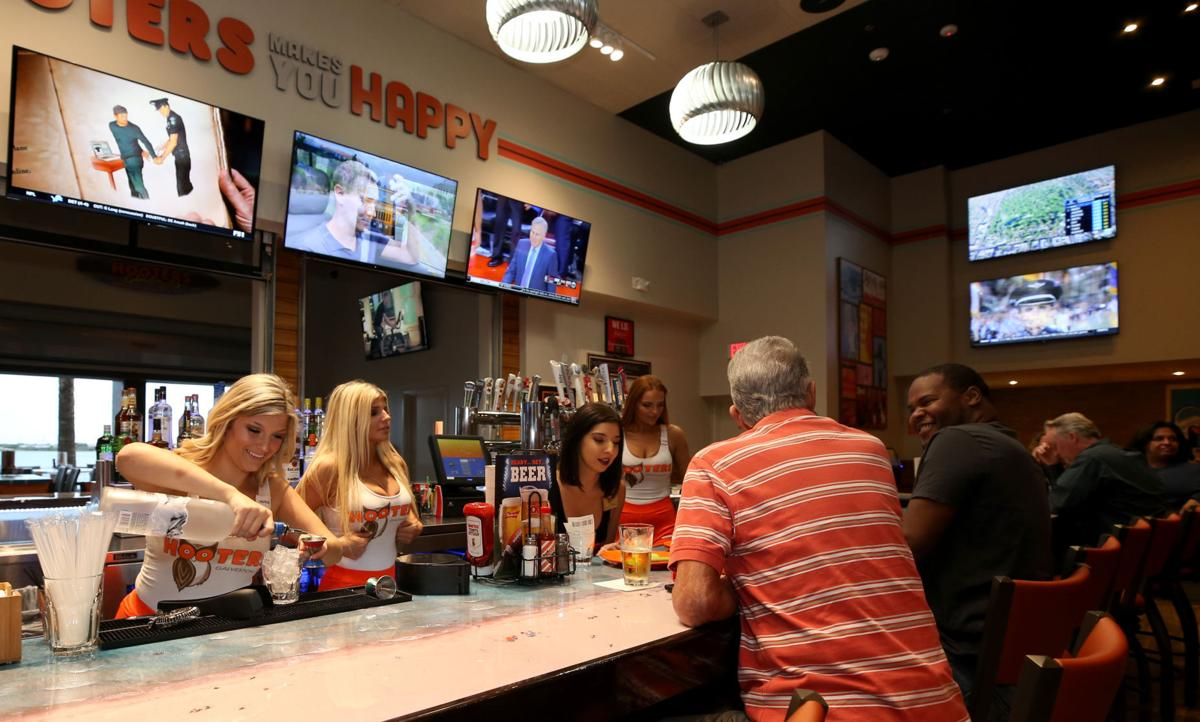 Hooters host VIP party at new island location