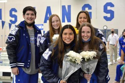 Friendswood swim and dive team senior night