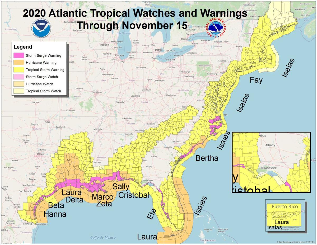 2020 Tropical Impact Map